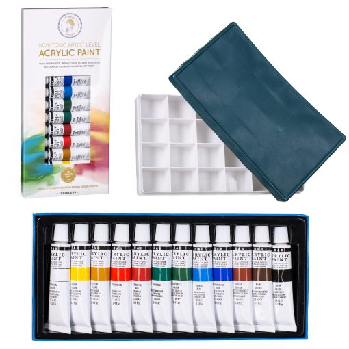 Acrylic Paint and Paint Palette for Canvas, fabric, wood